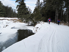 Cross-country skiing at Craftsbury Outdoor Center