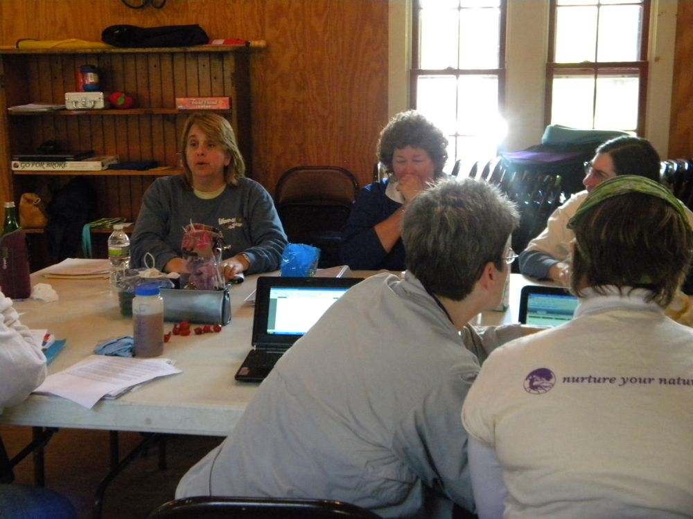 The Board of Directors on its 2010 retreat in Newport, RI, at a plush & faboo Girl Scout camp.